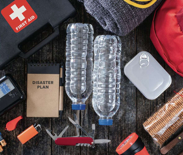 supplies for a disaster emergency kit