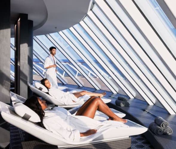 celebrity cruises guests in spa