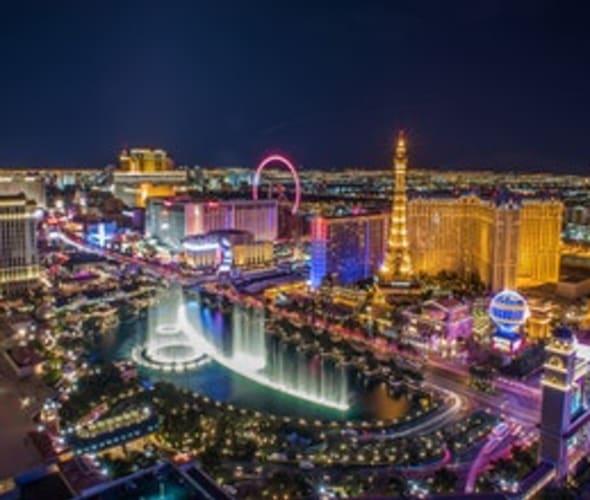 Lights of the Las Vegas strip at night