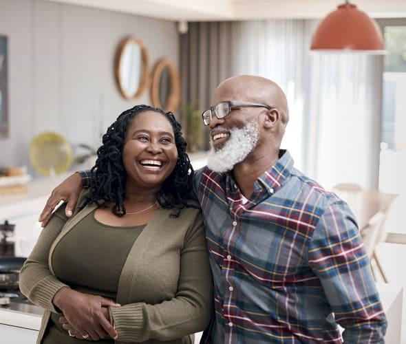 Smiling African American senior couple.