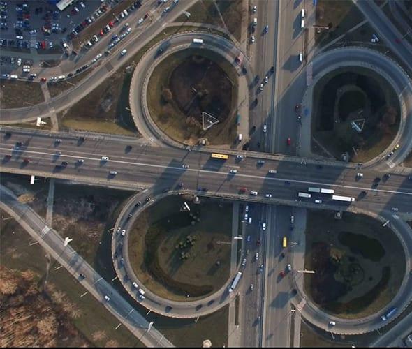 a california freeway arterial, as seen in a AAA video