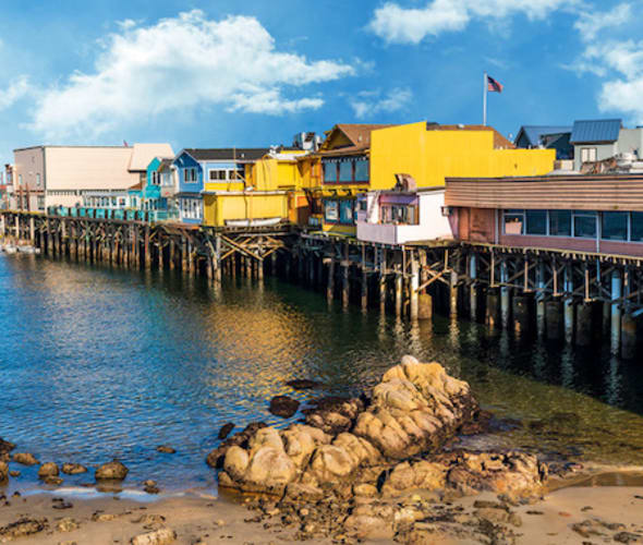 View of a pier in Monterey, California