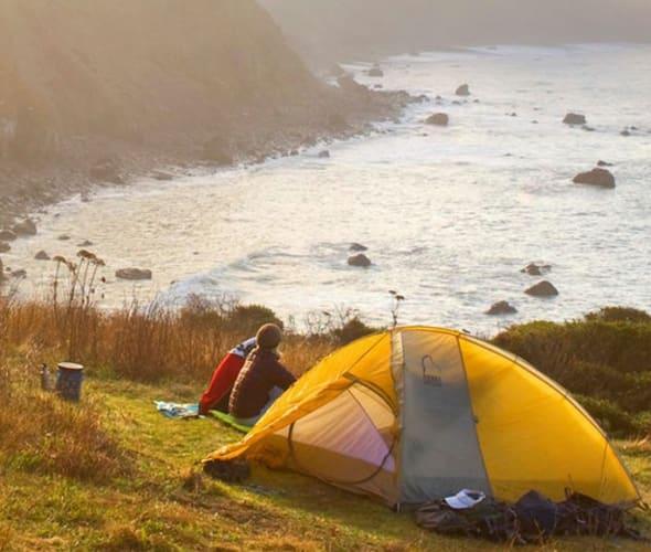 AAA Members camp in Big Sur.
