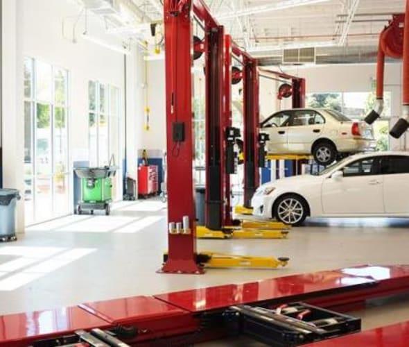 interior of aaa auto care shop in san jose