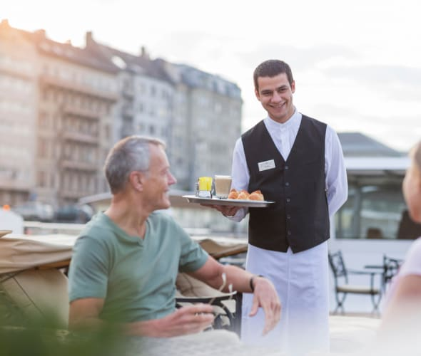 service on the sundeck on a uniworld river cruise