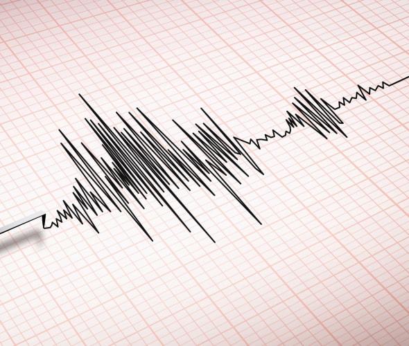 a seismograph reading an earthquake in california