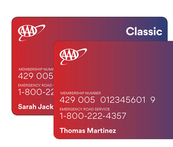 Example of AAA Membership Cards