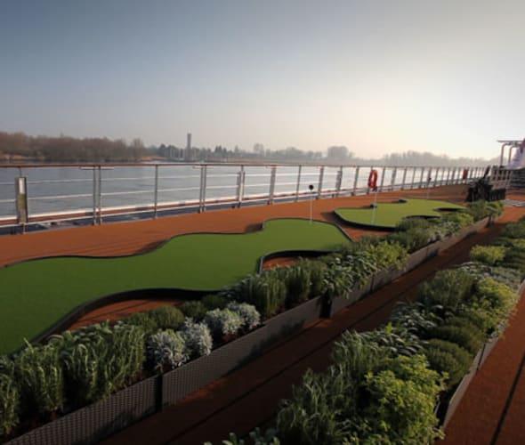 herb garden on viking river cruise ship