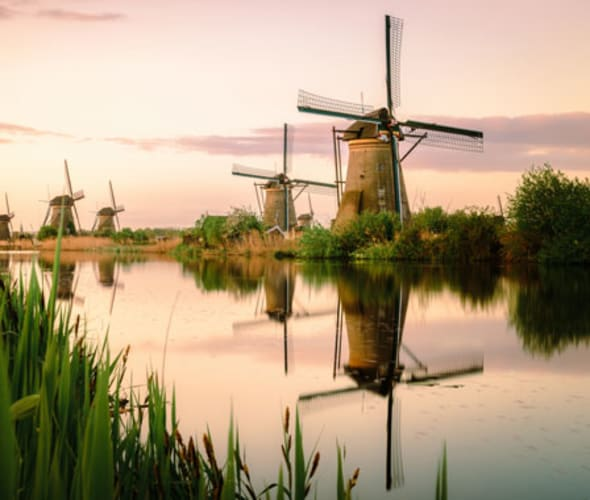 see windmills in netherlands on a viking river cruise