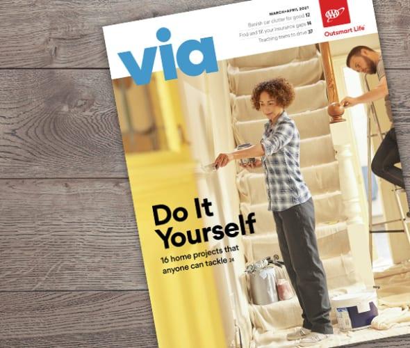 Via magazine March April 2021 issue cover