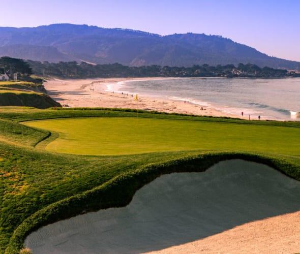 Monterey golf course and beach