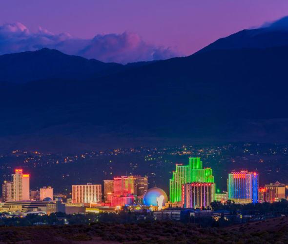 Reno Skyline at night