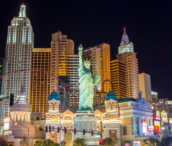 New York, New York hotel coaster in Las Vegas, NV