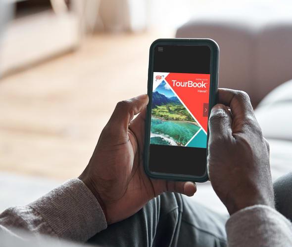 tourbook view on smartphone