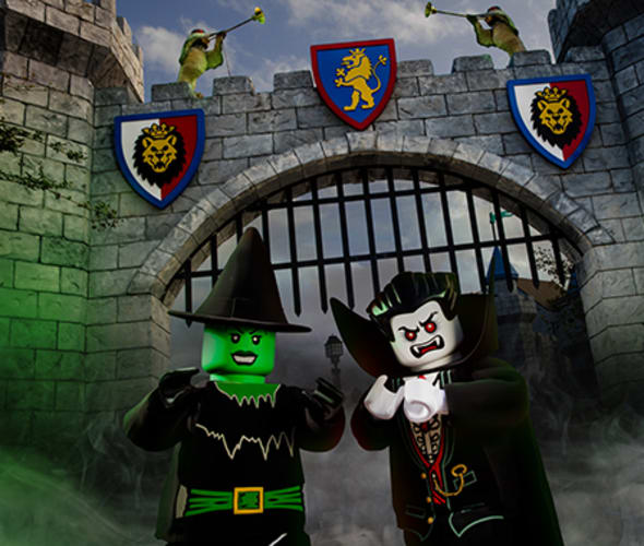 legoland halloween witch and vampire characters