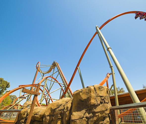 california great america railblazer roller coaster
