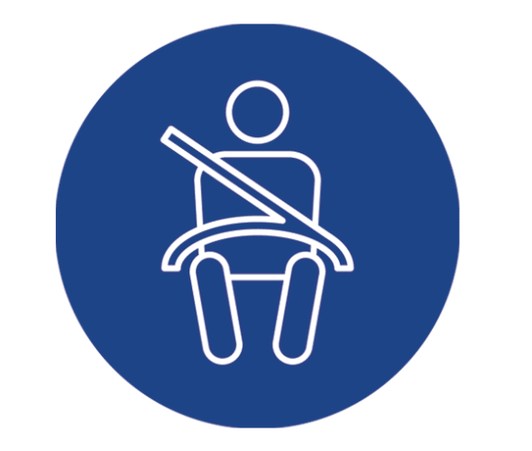 an illustration of a child in a car seat