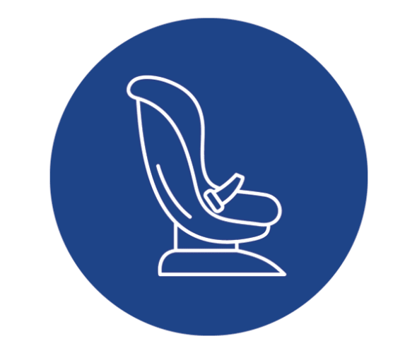 an illustration of a forward-facing car seat