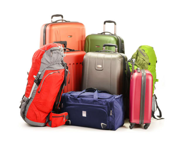 multiple luggage pieces