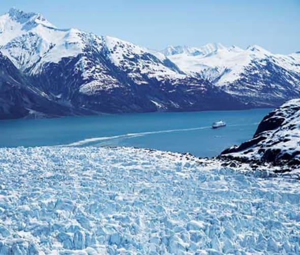 holland america ship in glacier bay