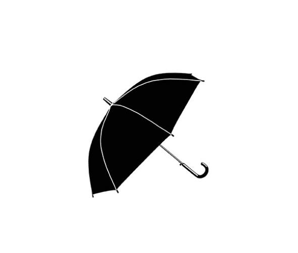a black umbrella