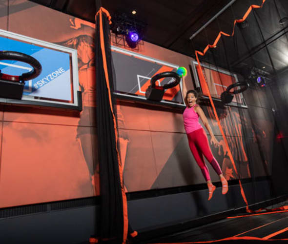 woman in carnival cruise lines skyzone