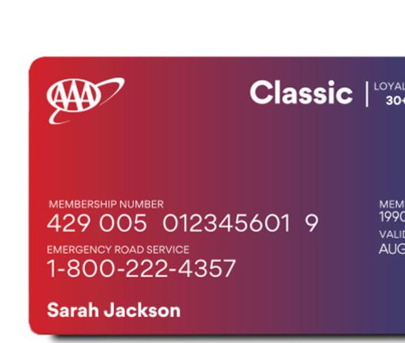 AAA classic membership card.