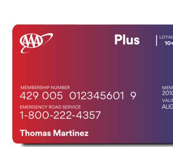 AAA plus membership card.