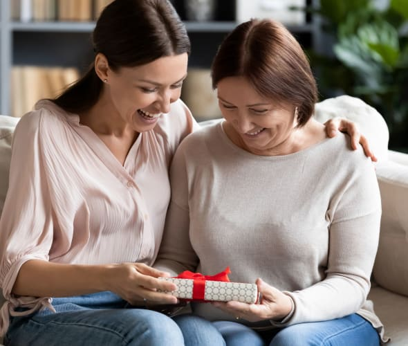 AAA Member giving her mother the gift of a AAA Membership