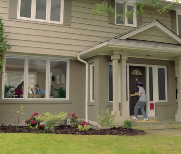 teen boy enters house protected by AAA home insurance
