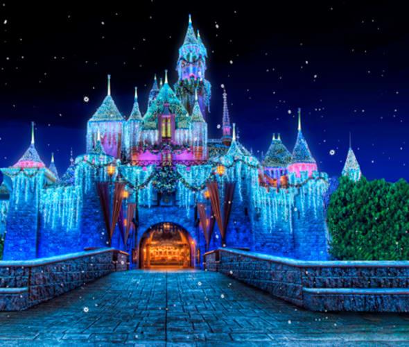 sleeping beauty winter castle at disneyland