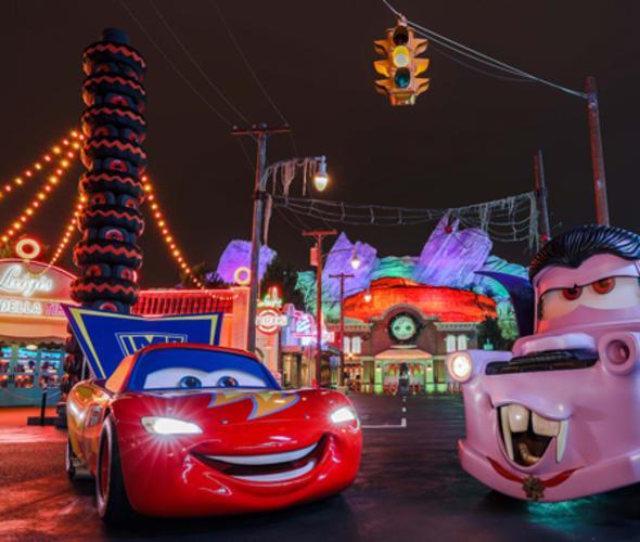cars dressed for halloween at disney california adventure