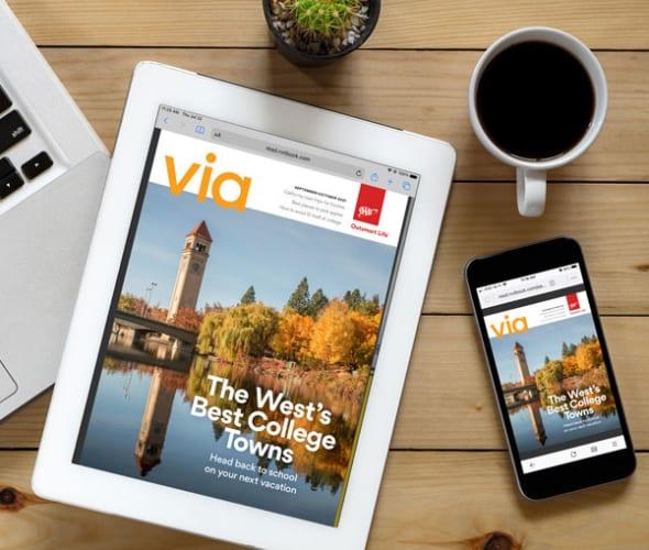 Via digital magazine for AAA